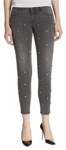 Stella McCartney Embellished Crystal Denim Skinny Jeans-Medium Wash