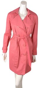 Elie Tahari Belted Trench Coat coral Jacket