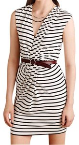 Anthropologie short dress Black & White Stripe Eddy Wrap on Tradesy