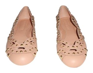Alexander McQueen Studded Woven Design Lovely Color Elegant Made In Italy Blush Flats