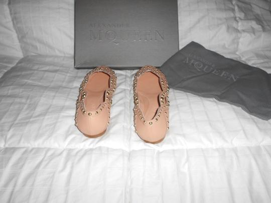 Alexander McQueen Studded Woven Design Lovely Color Elegant Made In Italy Pink Flats