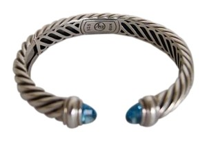 David Yurman David Yurman Waverly Bracelet with Blue Topaz sz.Small