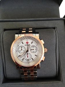 Michele (Rosegold/Silver) Michele Diamond Sport Sail Two Tone watch