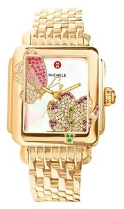 Michele Authentic Michele deco jardin gold diamond watch $2600