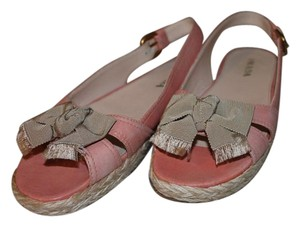 Prada Leather European Pink/Taupe Sandals