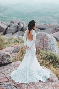 Long Sleeve Victorian Lace Gown Wedding Dress