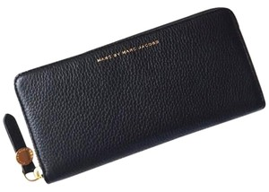 Marc by Marc Jacobs NEW Marc By Marc Jacobs Globetrotter Slim Black leather Wallet