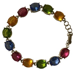 Multi colored Faceted Crystal Bracelet