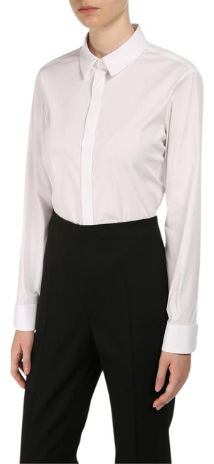 Preload https://item1.tradesy.com/images/burberry-white-3989206-basic-button-down-top-size-10-m-19348380-0-4.jpg?width=400&height=650