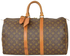 Louis Vuitton Duffle Duffel Gym Keepall Brown Travel Bag