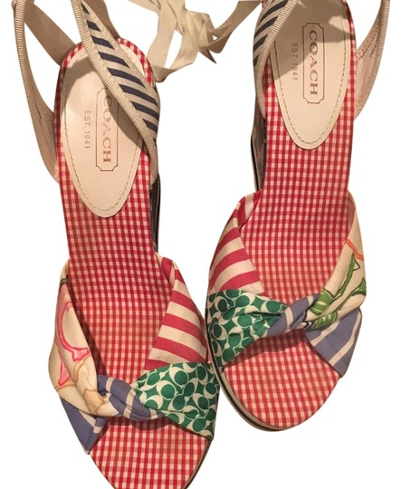 Preload https://img-static.tradesy.com/item/19348477/coach-multicolor-patchwork-colored-print-wedges-size-us-85-regular-m-b-0-1-540-540.jpg