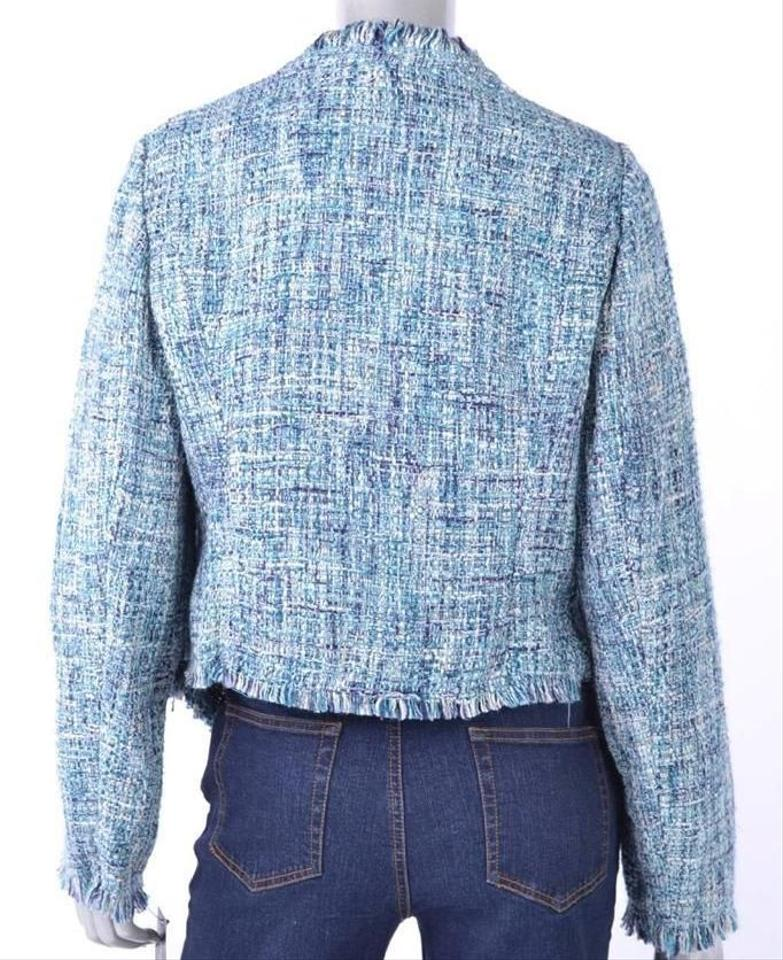 INC International Concepts Tweed L Blue Jacket