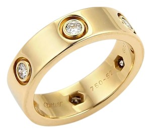 Cartier Cartier Love 6 Diamonds 18k Yellow Gold 5.5mm Band Ring