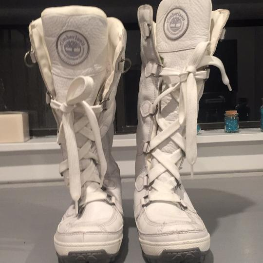Timberland White Boots