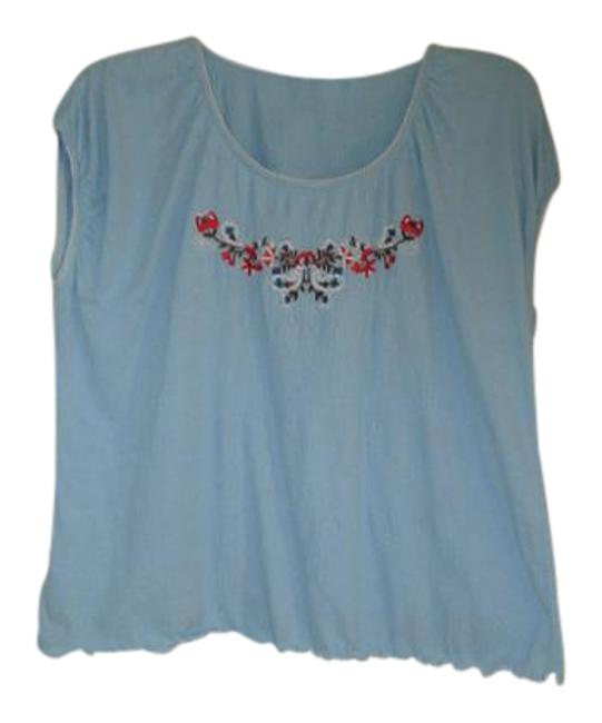 Preload https://img-static.tradesy.com/item/19348882/dirty-laundry-light-blue-top-with-pretty-design-front-blouse-size-22-plus-2x-0-2-650-650.jpg