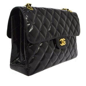 Chanel Jumbo 2.55 255 Patent Shoulder Bag