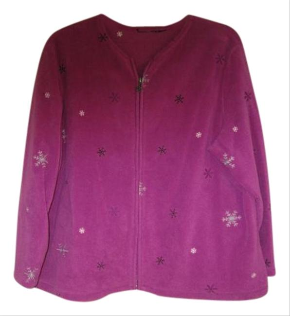 Preload https://item5.tradesy.com/images/purple-fusia-pretty-with-zipper-light-color-with-snowflakes-size-22-plus-2x-19348944-0-2.jpg?width=400&height=650