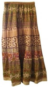 Uniti Casual Maxi Skirt Floral - greens, pinks, purple
