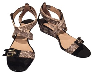 Jimmy Choo Snakeskin and black Wedges
