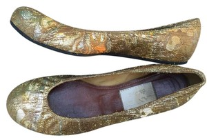 Lanvin Fabric gold Flats