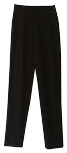 ADAM Lippes Solid Mid-rise Structured Straight Pants Black