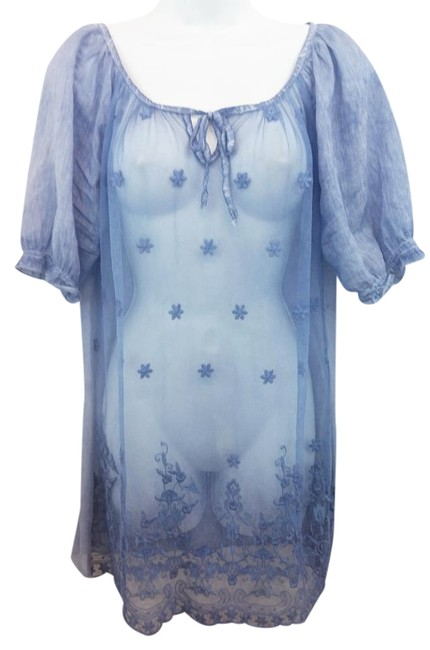 Preload https://item3.tradesy.com/images/colette-made-in-italy-sheer-blue-mesh-dress-s-blouse-size-6-s-19349297-0-1.jpg?width=400&height=650