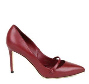 Gucci Classic Leather Pointy Toe Dark Red 6236 Pumps