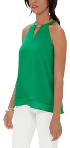 The Limited Halter Embellished Gold Top Green