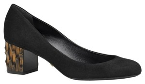 Gucci Bamboo Heel Suede 338758 Black1000 Pumps
