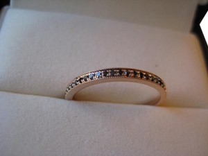 Other Brand new pave black diamond and rose gold half eternity band