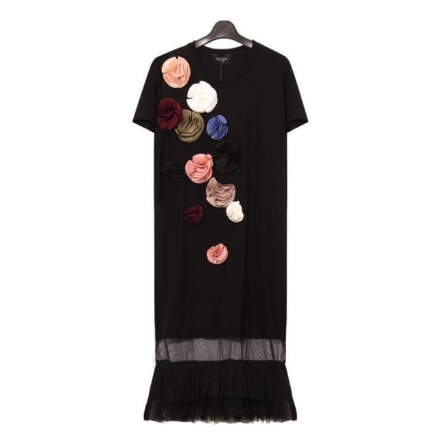Preload https://item2.tradesy.com/images/black-cotton-mid-length-night-out-dress-size-12-l-19349546-0-0.jpg?width=400&height=650