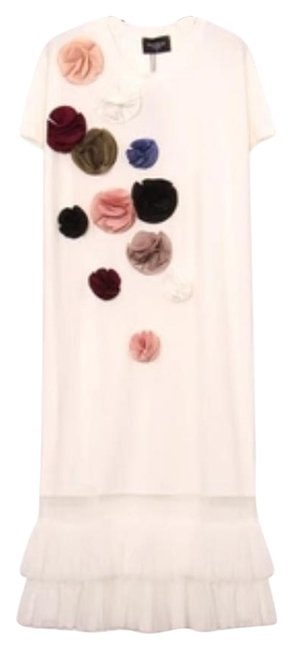 Preload https://img-static.tradesy.com/item/19349549/white-cotton-knee-length-flowers-details-mid-length-night-out-dress-size-12-l-0-2-650-650.jpg