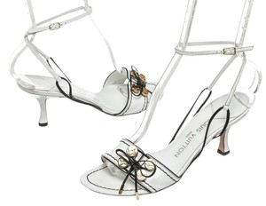 Louis Vuitton White/Black Sandals