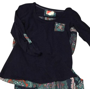 Anthropologie T Shirt Navy