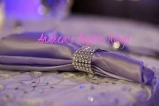 Silver 150-silver Bling Napkin Rings Reception Decoration