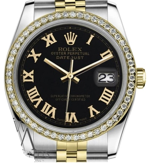 Preload https://item4.tradesy.com/images/rolex-unisex-36mm-datejust-2-tone-black-color-roman-numeral-dial-watch-19350518-0-2.jpg?width=440&height=440