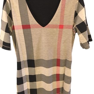 Burberry T Shirt Black beige