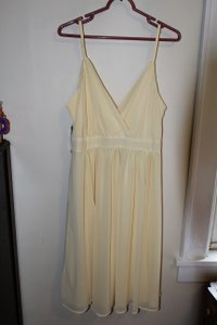 Eva Mendes New York & Company Yellow Bridal Party Collection Dress