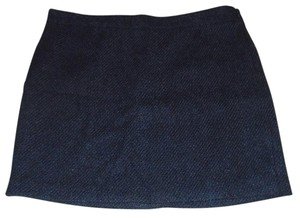 Gap Wool Straight Navy Lined Mini Skirt Blue