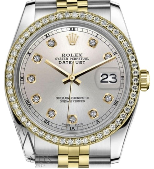 Preload https://img-static.tradesy.com/item/19351096/rolex-men-s-36mm-datejust-2-tone-silver-color-dial-with-diamond-accent-rt-watch-0-2-540-540.jpg