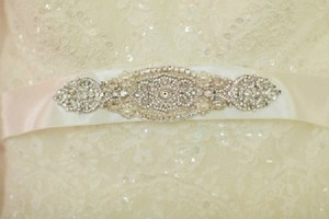 Sophia Bridal Wedding Dress Rhinestone Crystal Embellished Belt Sash Vintage Wedding Art Deco