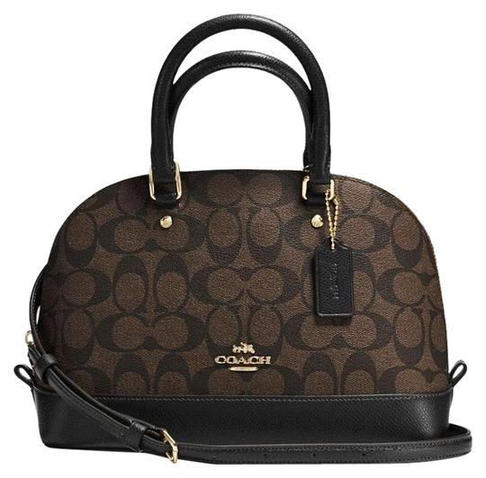 Preload https://item3.tradesy.com/images/coach-sierra-f37232-mini-in-signature-black-brown-coated-canvas-satchel-19351197-0-2.jpg?width=440&height=440