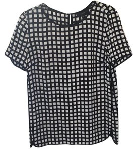 J.Crew Top Black and white