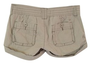 American Eagle Outfitters Cuffed Shorts Beige