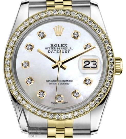 Preload https://item1.tradesy.com/images/rolex-women-s-26mm-datejust-2-tone-white-mother-of-pearl-dial-with-diamond-watch-19351365-0-2.jpg?width=440&height=440