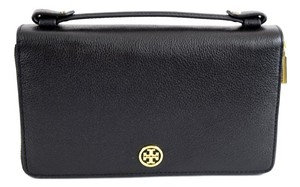 Tory Burch Tory Burch Robinson Leather Travel Wallet Black