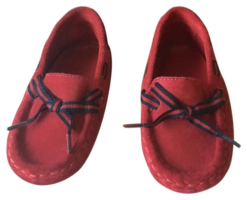 003b7236 Gucci Red Infant Signature Loafers 2.5 Flats Size US 4 Regular (M, B) 60%  off retail