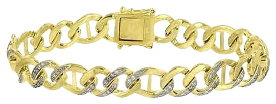 Other 14k Gold Finish Bracelet Miami Cuban Link 925 Silver