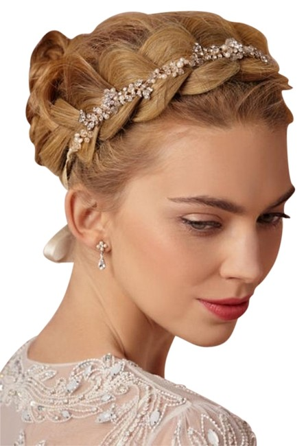 Item - Clear Champagne Gold Pearl- Petal Halo Hair Accessory