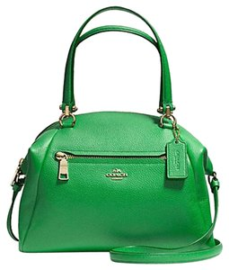 Coach Leather F34340 Green Satchel in Grass